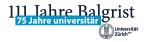 111 Jahre Balgrist - 75 Jahre universitär